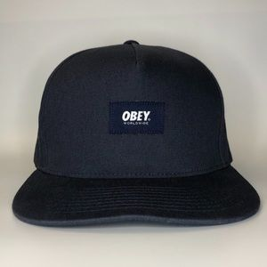Obey Embroidered Navy Blue SnapBack Hat